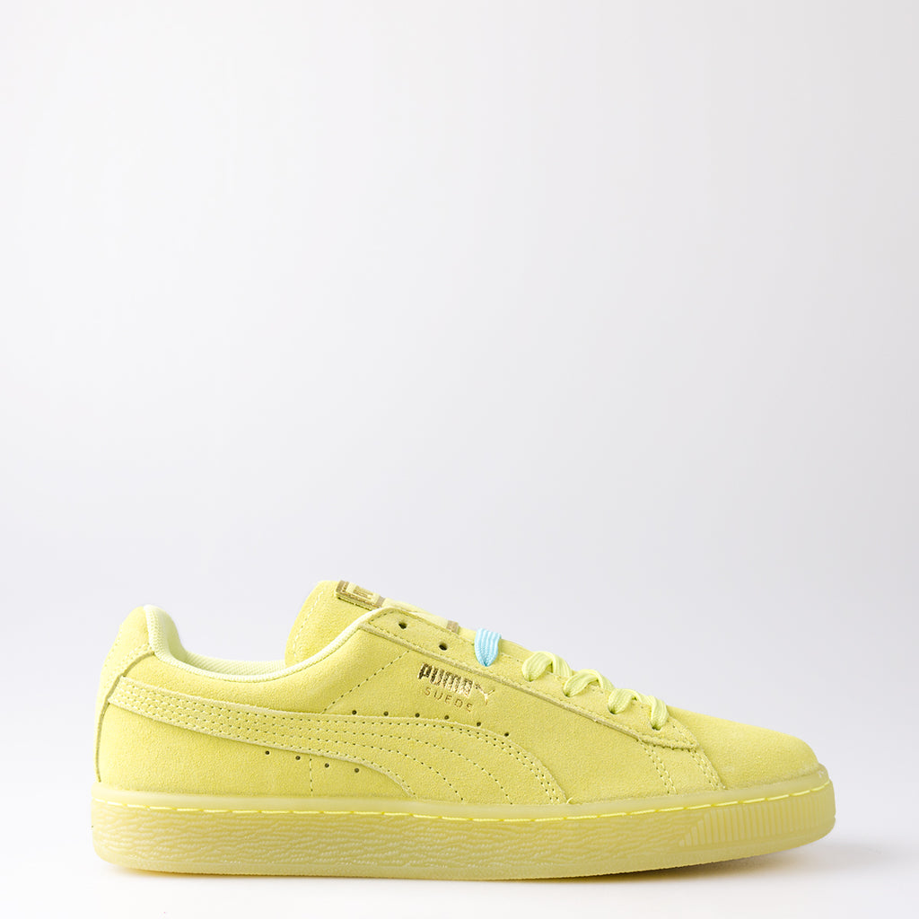 523591eb8ca Women s Puma Suede Classic Iced Sneakers Soft Fluo Yellow