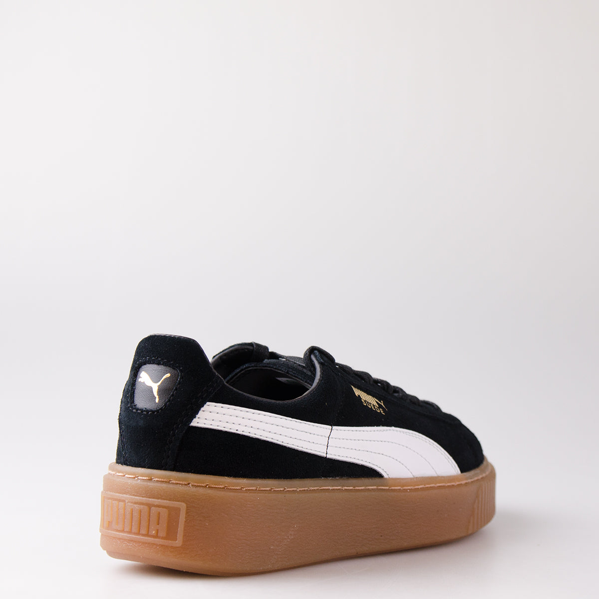 Womens Puma Suede Platform Core Low Top Sneakers Puma