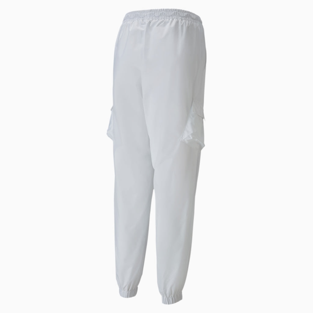 Women's PUMA Classics Utility Pants White (SKU 59849602) | Chicago City Sports | back view