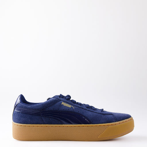 Women's PUMA Vikky Platform Shoes Peacoat