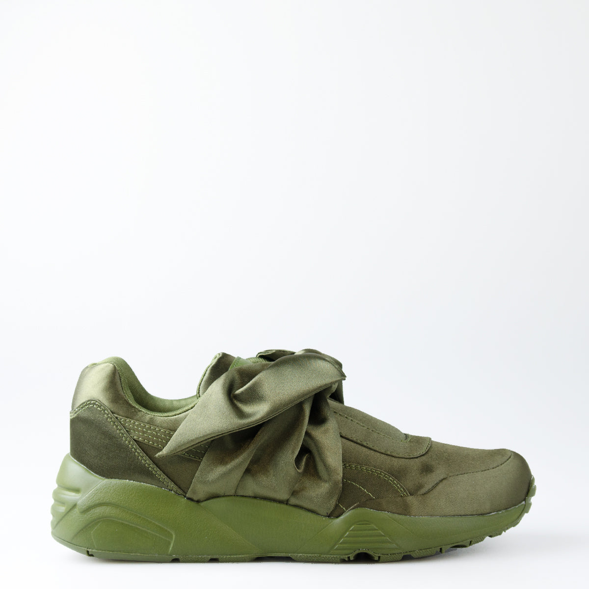 new style 51376 e5195 Women's Puma X Fenty by Rihanna Bow Sneakers Olive Green ...