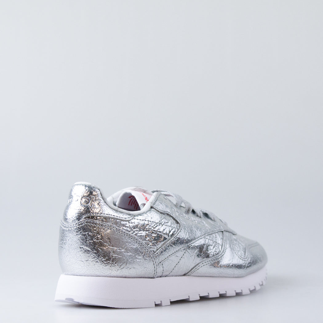8bb672606cf2c4 Women s Reebok Classic Leather HD Shoes Silver Metal BS5115 ...