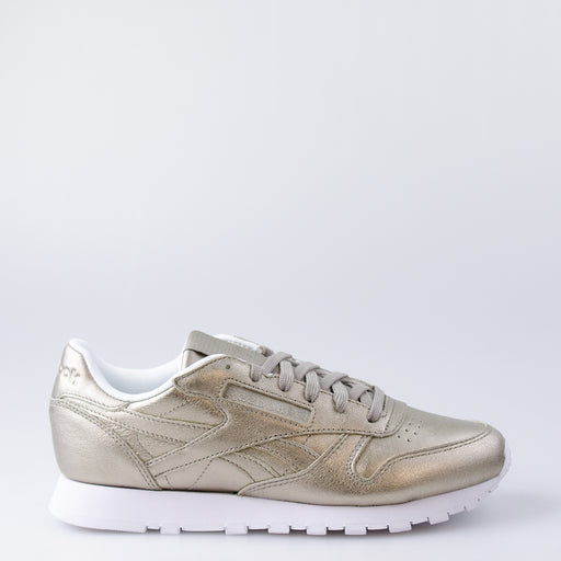 Women's Reebok Classic Leather L Shoes Pearl Metal Gold
