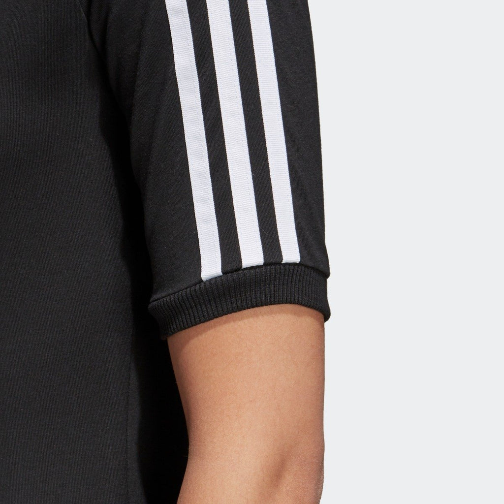Women's adidas 3-Stripes Dress Black CY4748 | Chicago City Sports | sleeve view