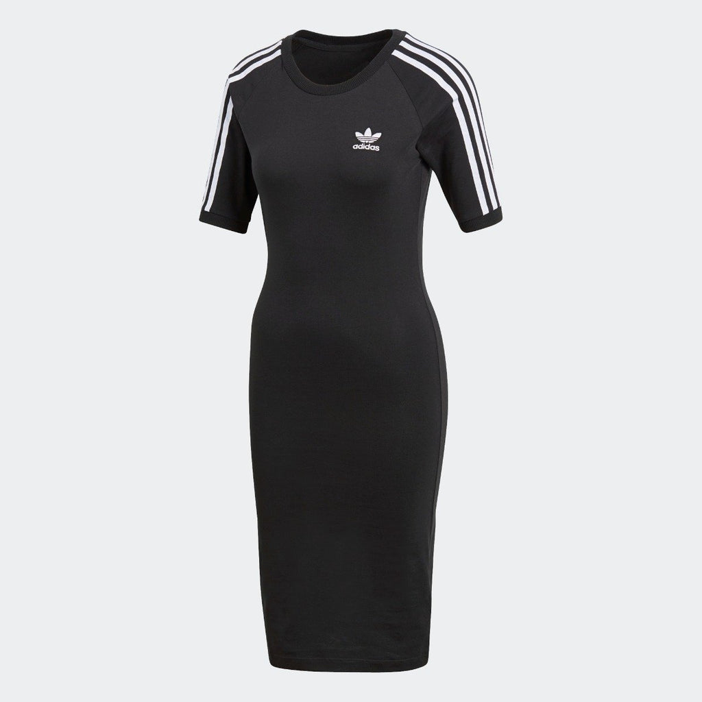 Women's adidas 3-Stripes Dress Black CY4748 | Chicago City Sports | front view