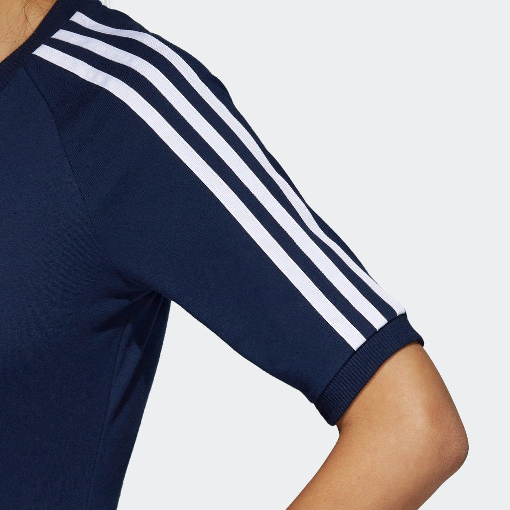 Women's adidas 3-Stripes Dress Collegiate Navy CY4749 | Chicago City Sports | sleeve view