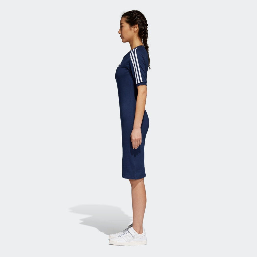 Women's adidas 3-Stripes Dress Collegiate Navy CY4749 | Chicago City Sports | side view on model