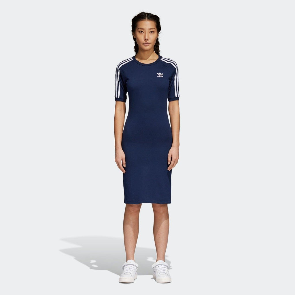 Women's adidas 3-Stripes Dress Collegiate Navy CY4749 | Chicago City Sports | front view on model