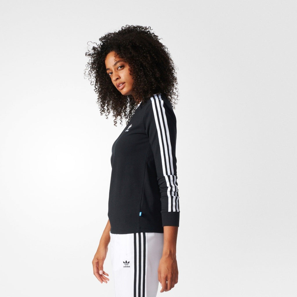 Women's Adidas Originals 3-Stripes Tee BLACK