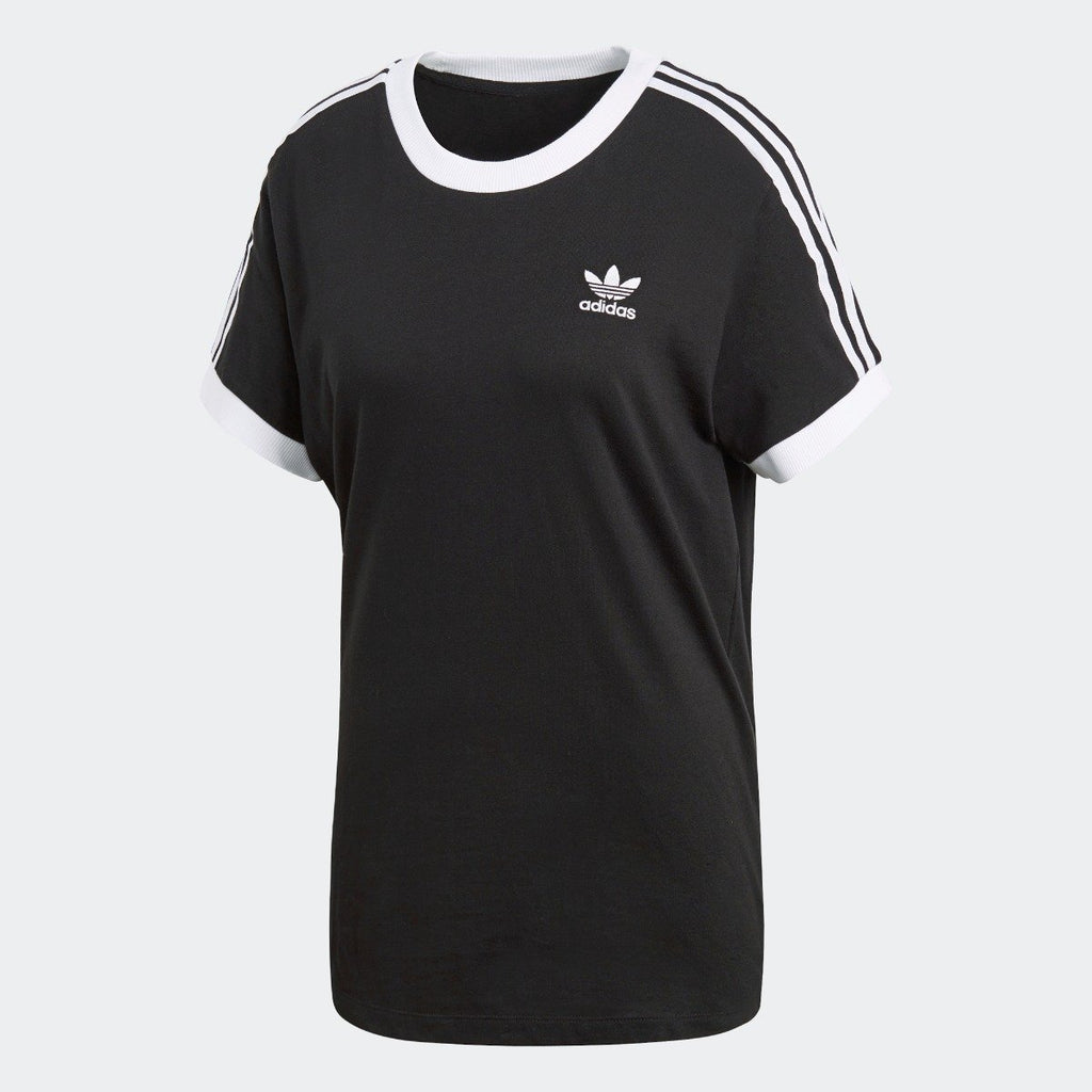 Women's adidas Originals 3-Stripes Tee Black with White