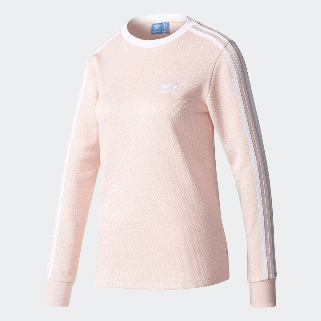 Women's adidas Originals 3-Stripes Tee Icey Pink BP9432 | Chicago City Sports | front view