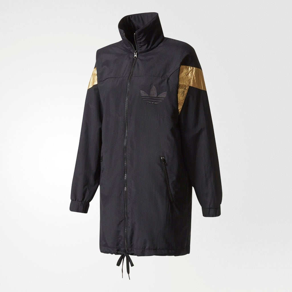 Women's adidas Originals Archive Long Track Jacket Black BR0284 | Chicago City Sports | front view