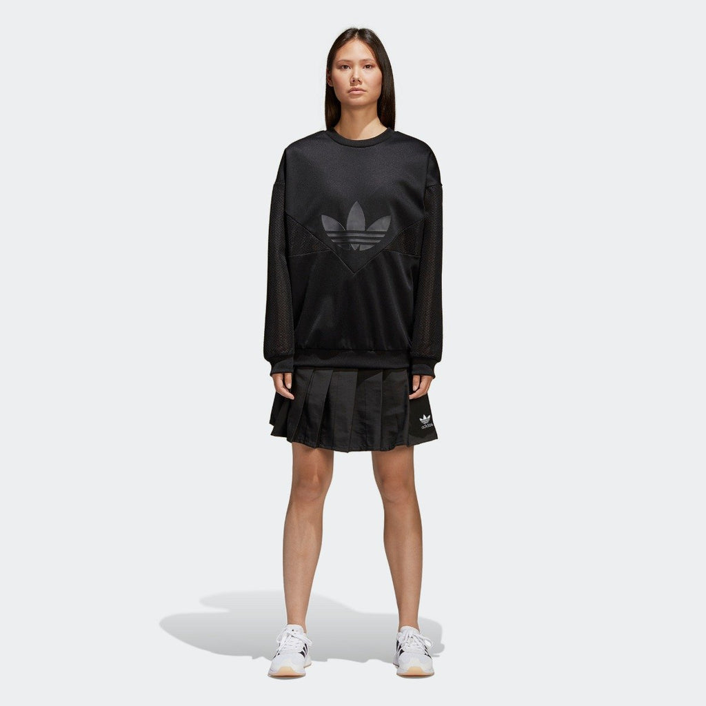 Women's adidas Originals CLRDO Skirt Black CV5793 | Chicago City Sports | on model view