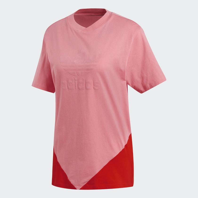 Women's adidas CLRDO Tee Chalk Pink CE1742 | Chicago City Sports | front view