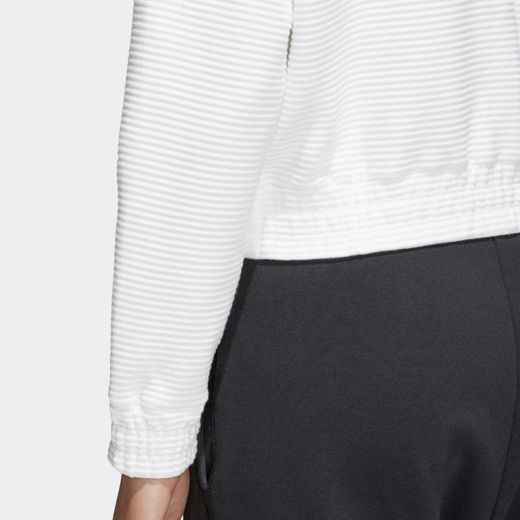 Women's adidas Originals Cropped EQT Sweatshirt White