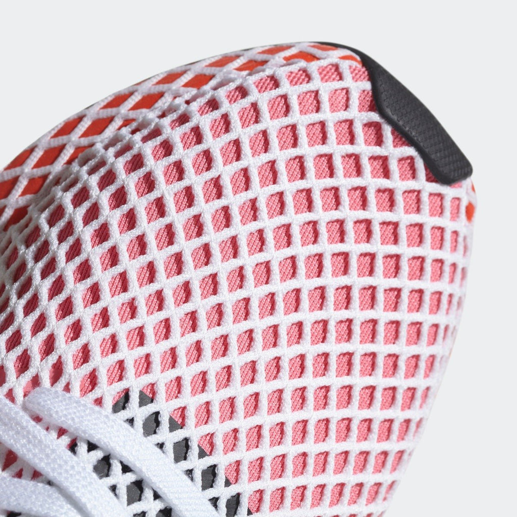 Women's adidas Originals Deerupt Runner Shoes Chalk Pink with Bold Orange CQ2910 | Chicago City Sports | toe area view