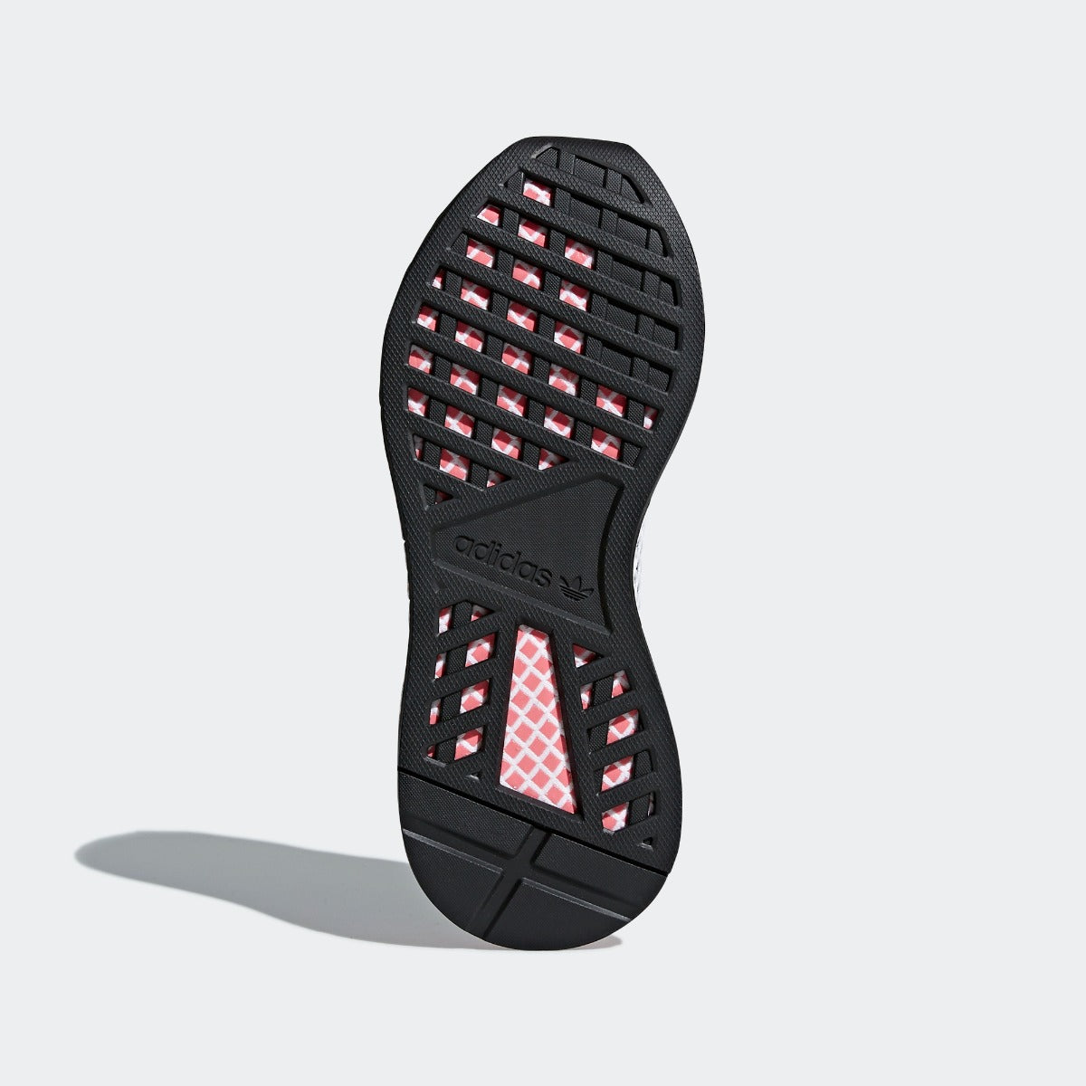 29b9b076310e9 Women s adidas Originals Deerupt Runner Shoes Core Black with Chalk Pink. 1
