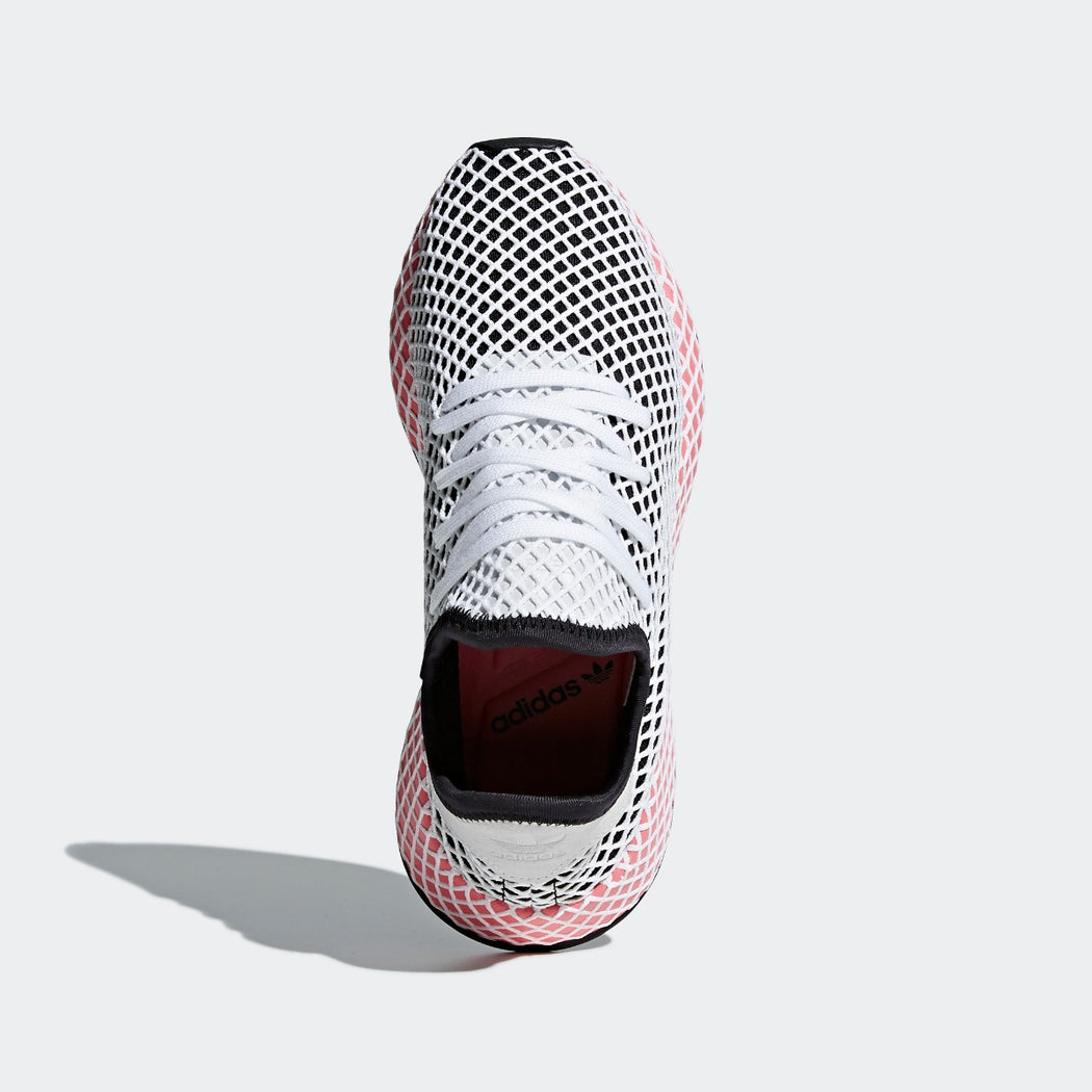 057d0be7398 ... netherlands womens adidas originals deerupt runner shoes core black  with chalk pink 5b436 c76fb