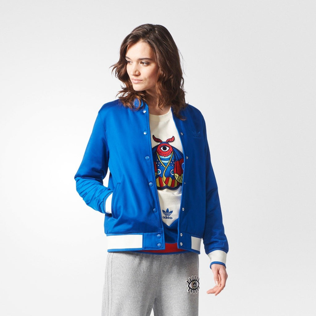 Women's Adidas Originals Embellished Arts Bomber Jacket Collegiate Royal