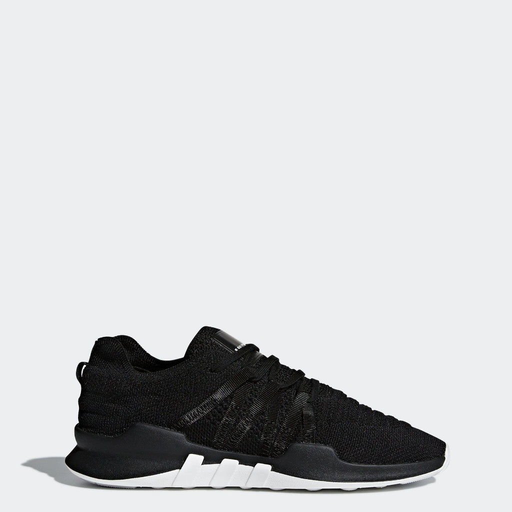 Women's adidas Originals EQT ADV Racing Shoes Core Black with White CQ2243 | Chicago City Sports | side view