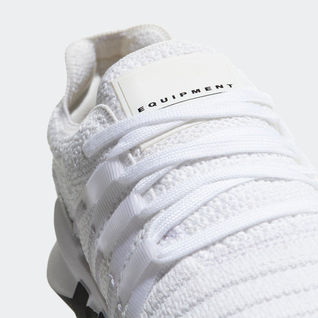 Women's adidas Originals EQT ADV Racing Shoes White with Black CQ2244 | Chicago City Sports | laces view