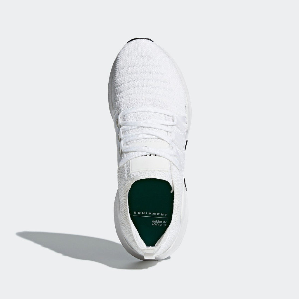 Women's adidas Originals EQT ADV Racing Shoes White with Black CQ2244 | Chicago City Sports | top view