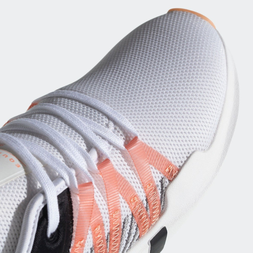 Women's adidas Originals EQT ADV Racing Shoes White with Chalk Coral CQ2156 | Chicago City Sports | toe area view