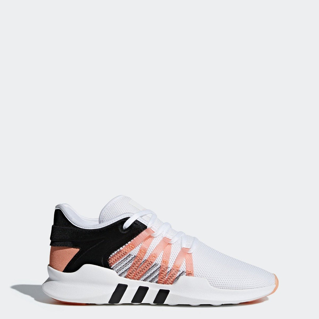 Women's adidas Originals EQT ADV Racing Shoes White with Chalk Coral CQ2156 | Chicago City Sports | side view