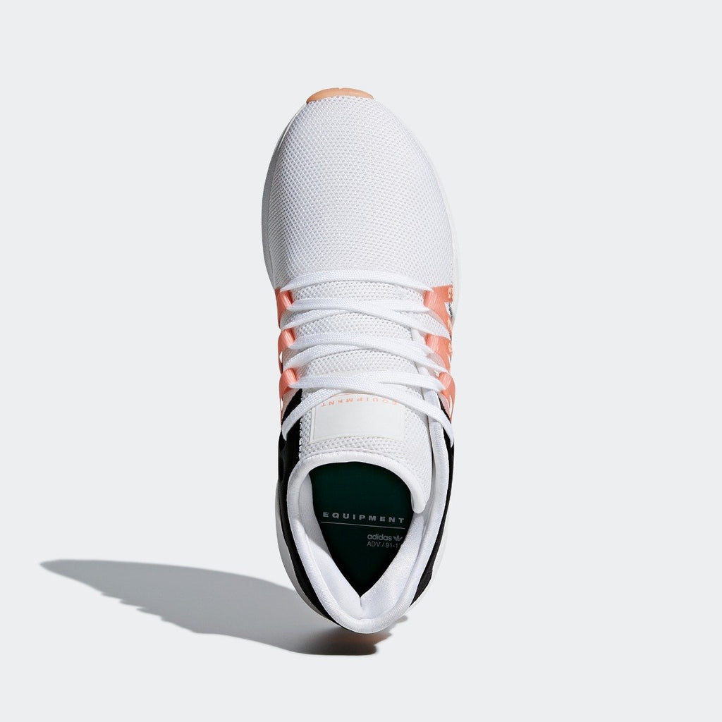 Women's adidas Originals EQT ADV Racing Shoes White with Chalk Coral CQ2156 | Chicago City Sports | top view