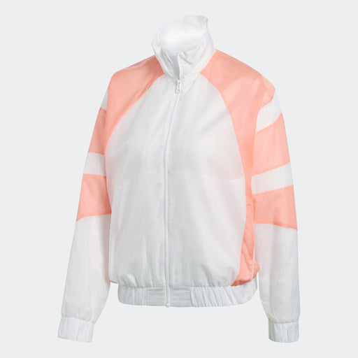 Women's adidas Originals EQT Track Jacket White with Chalk Coral