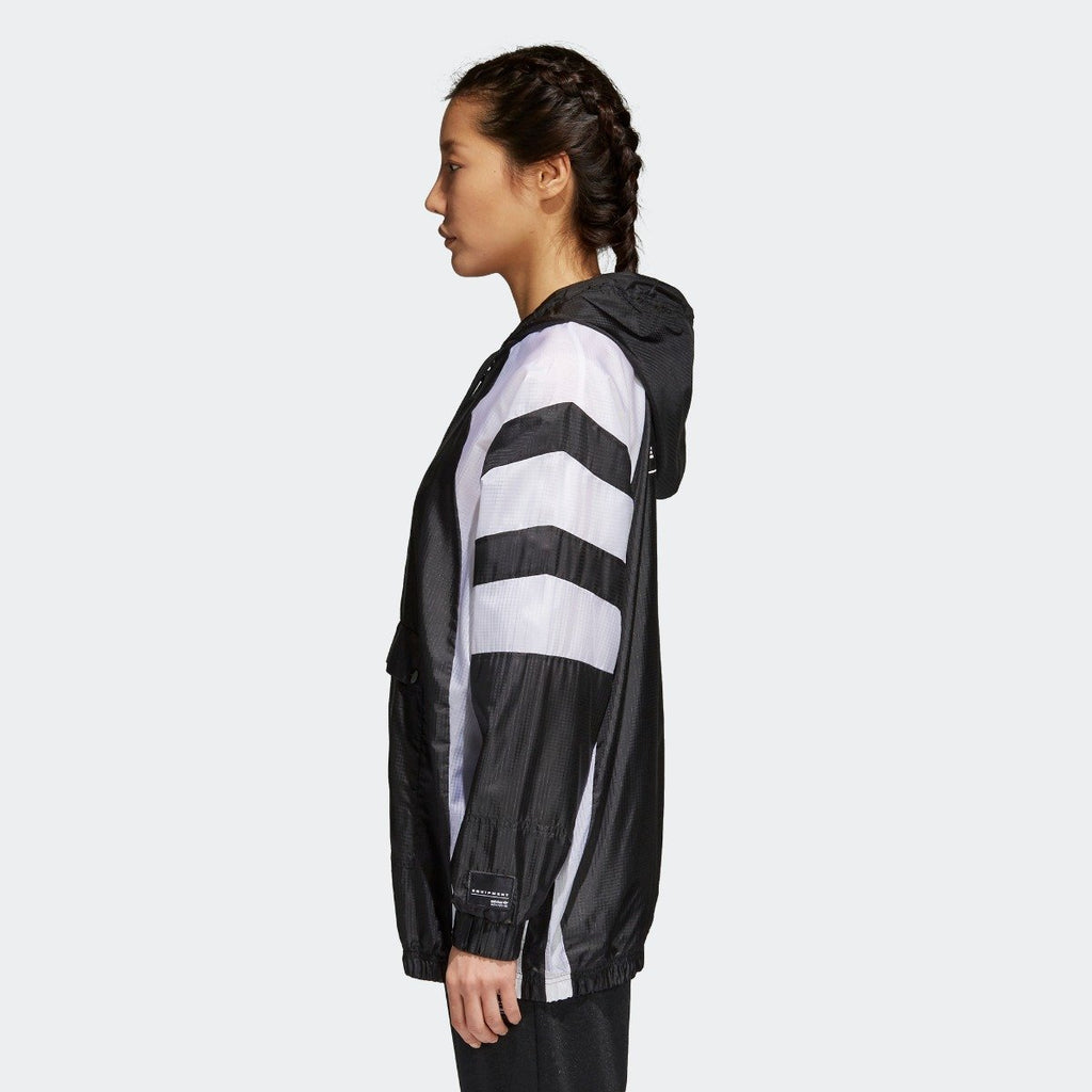 Women's adidas Originals EQT Windbreaker Jacket Black
