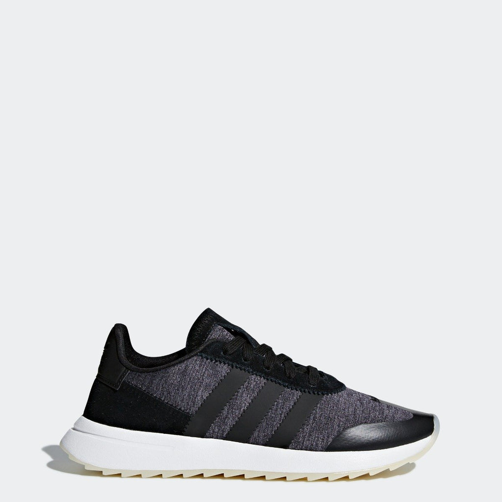Women's adidas Originals FLB Runner Shoes Black and Gray CQ1970 | Chicago City Sports | side view