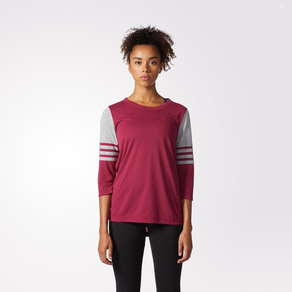 Women's adidas Originals Long Sleeve Jersey Tee Mystery Ruby