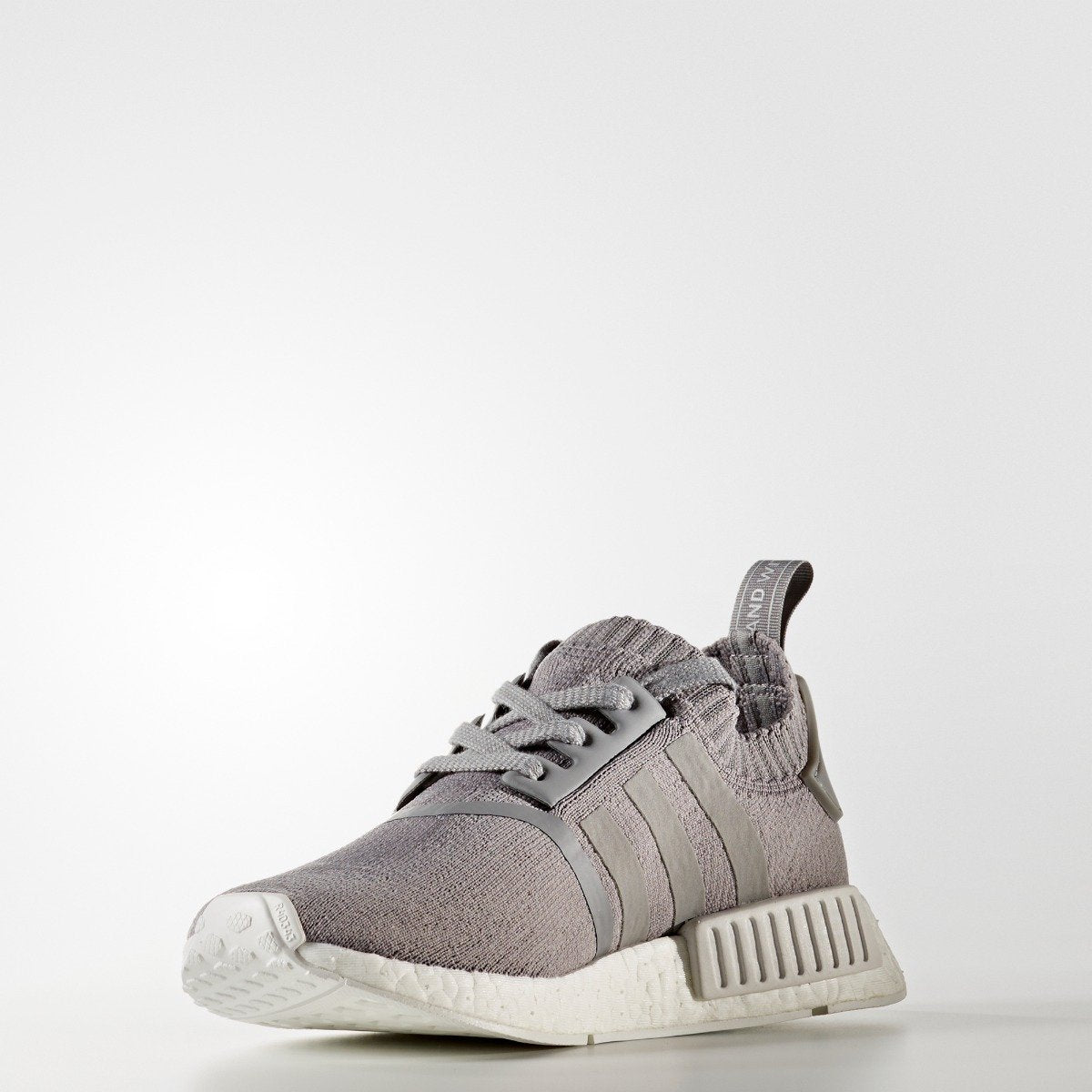 online retailer 7bf45 aab25 Womens adidas Originals NMD R1 Primeknit Shoes Grey with White. 1