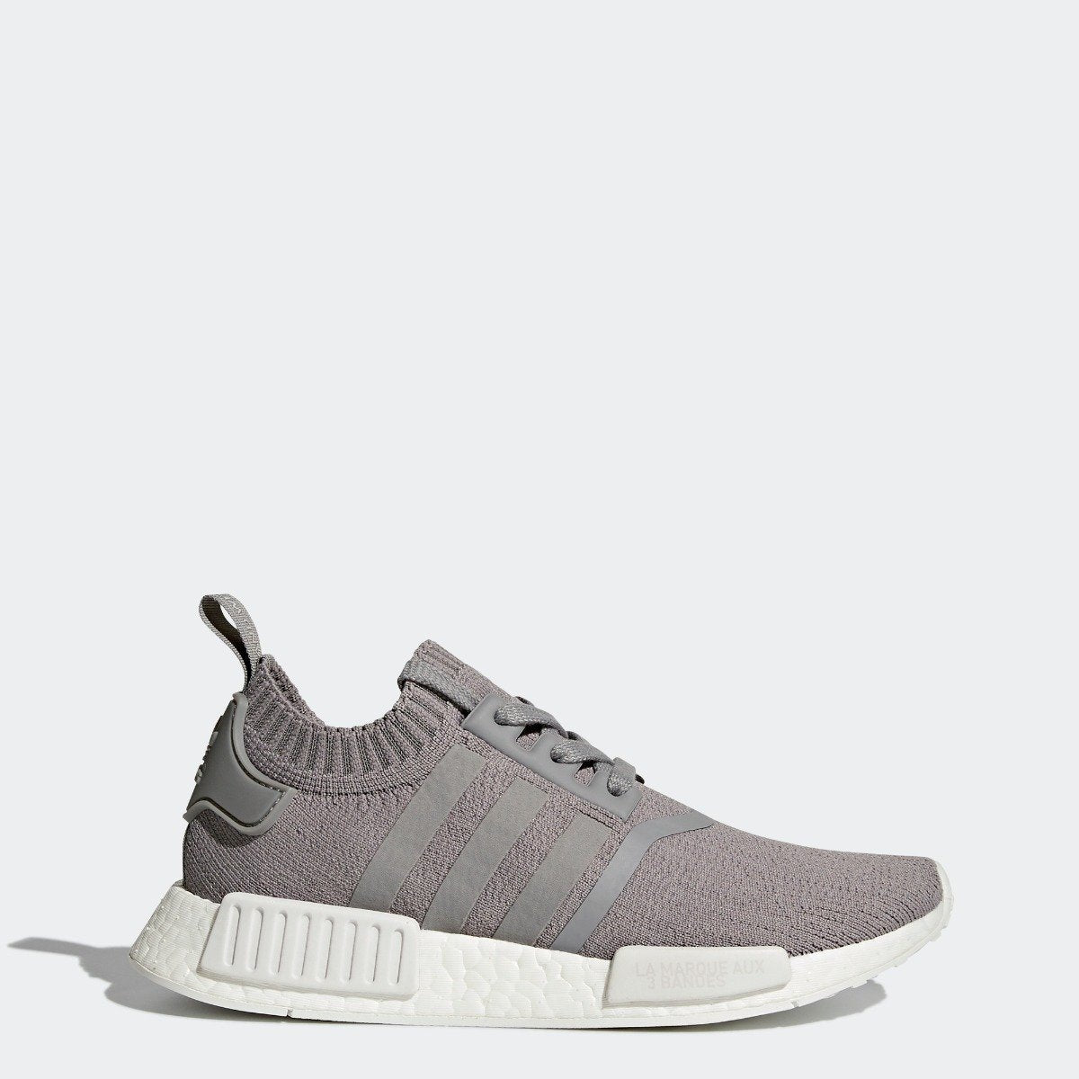 Women s adidas Originals NMD R1 Primeknit Shoes Grey with White ... 788fc9784
