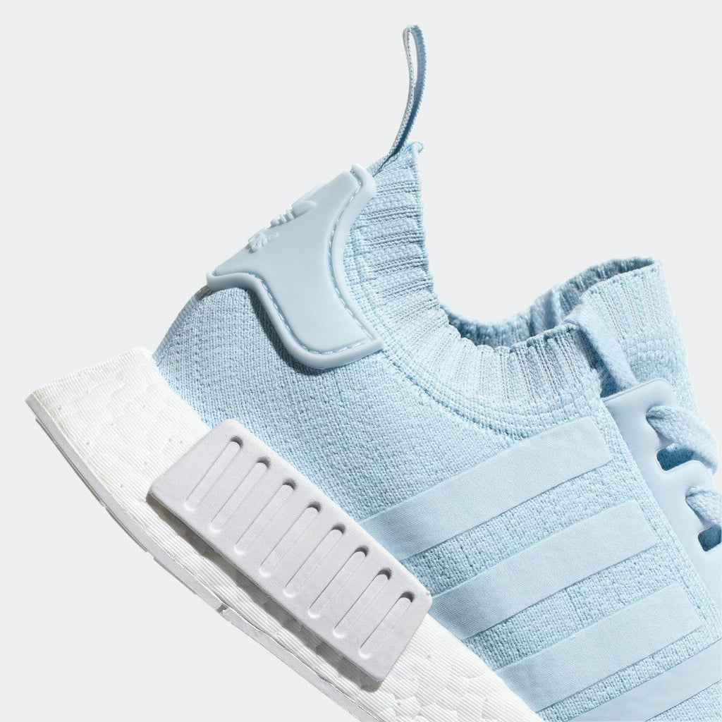 Women's adidas Originals NMD R1 Primeknit Shoes Ice Blue with White
