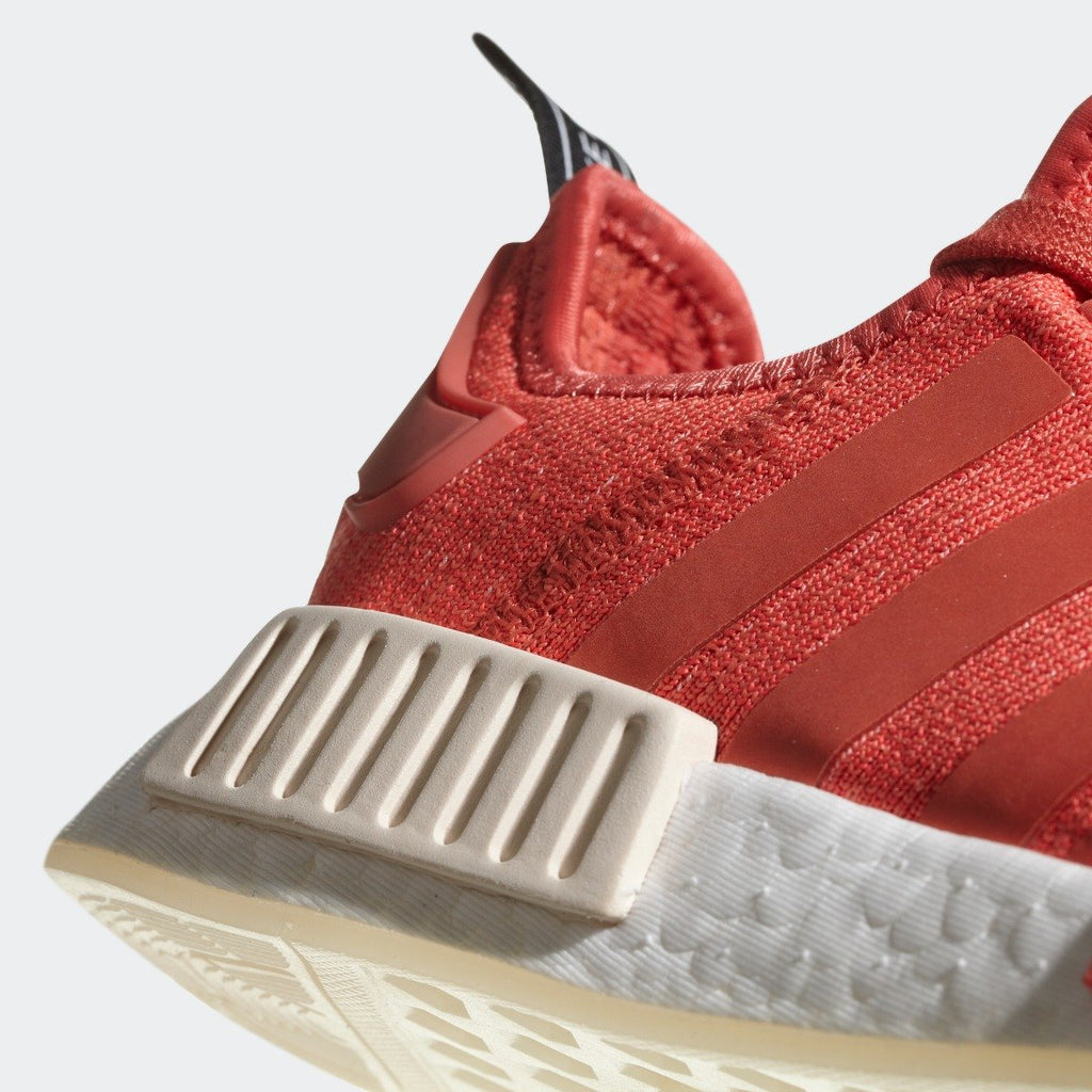 Women's adidas NMD_R1 Shoes Trace Scarlet Red CQ2014 | Chicago City Sports | detailed side view