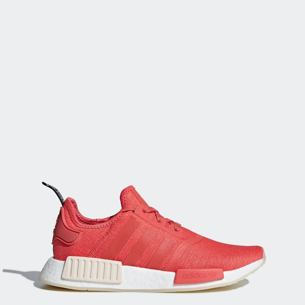 Women's adidas NMD_R1 Shoes Trace Scarlet Red CQ2014 | Chicago City Sports | side view