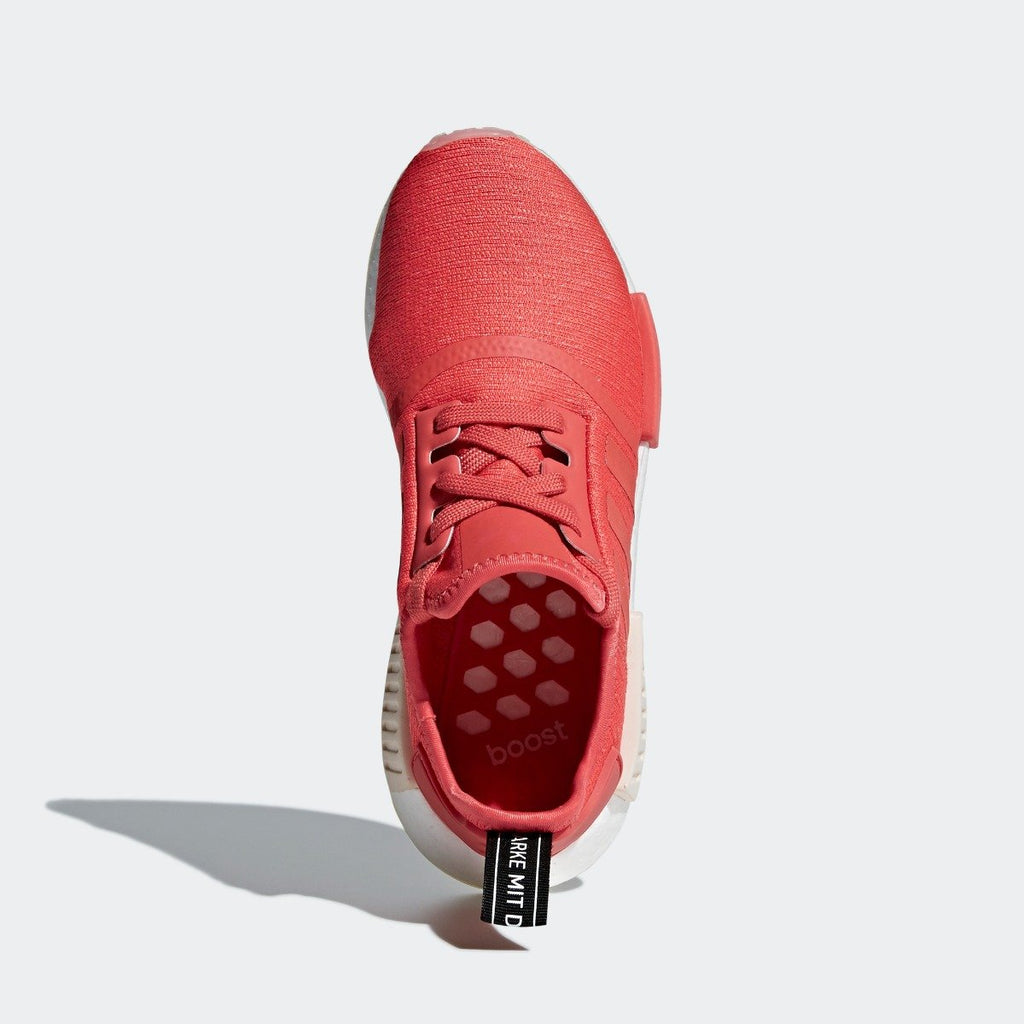 Women's adidas NMD_R1 Shoes Trace Scarlet Red CQ2014 | Chicago City Sports | top view
