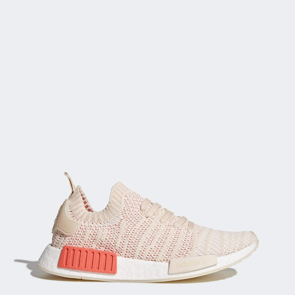Womens adidas Originals NMD R1 STLT Primeknit Shoes Linen CQ2030 | Chicago City Sports | side view