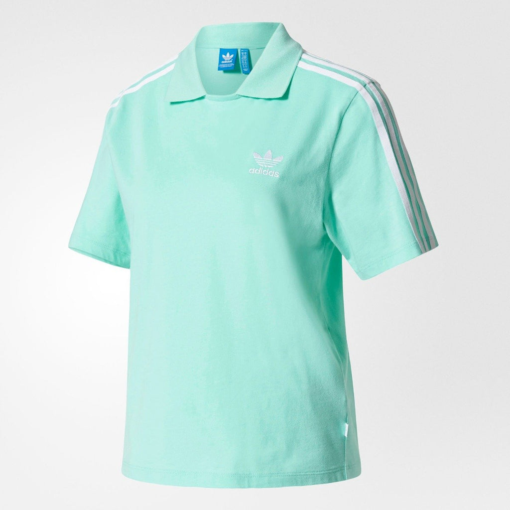 Women's Adidas Originals Polo Shirts Easy Green BJ8202