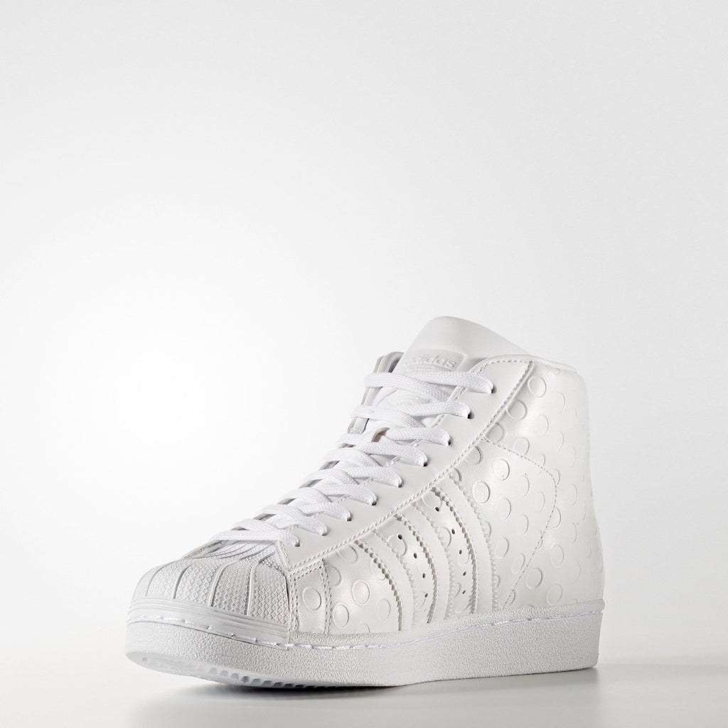 Women's Adidas Originals Pro Model Shoes WHITE Dots