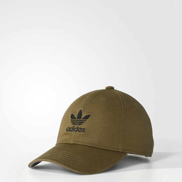 6ba53b60e91 Women s Adidas Originals Relaxed Strap-Back Hat Olive Cargo BH8419 ...