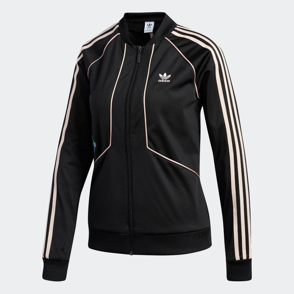 Women's adidas Originals SST Track Jacket Black Blush Pink