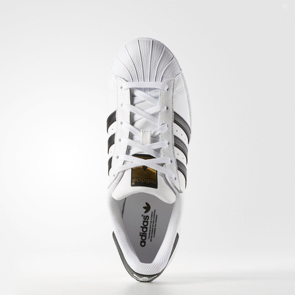 Women's adidas Originals Superstar Shoes White Black C77153 | Chicago City Sports | top view