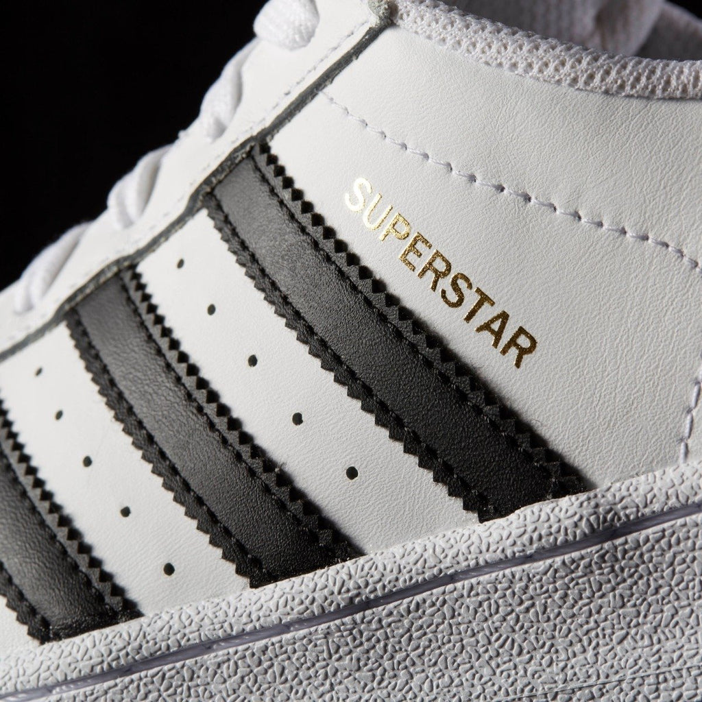 Women's adidas Originals Superstar Shoes White Black C77153 | Chicago City Sports | detailed side view