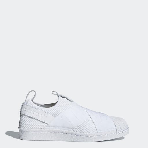 Women's Adidas Originals Superstar Slip-On Shoes All White