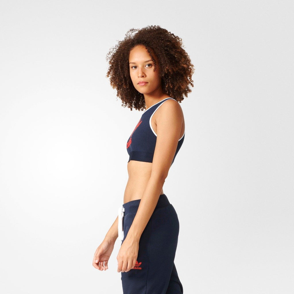 Women's Adidas Originals Trefoil Bra Legend Ink