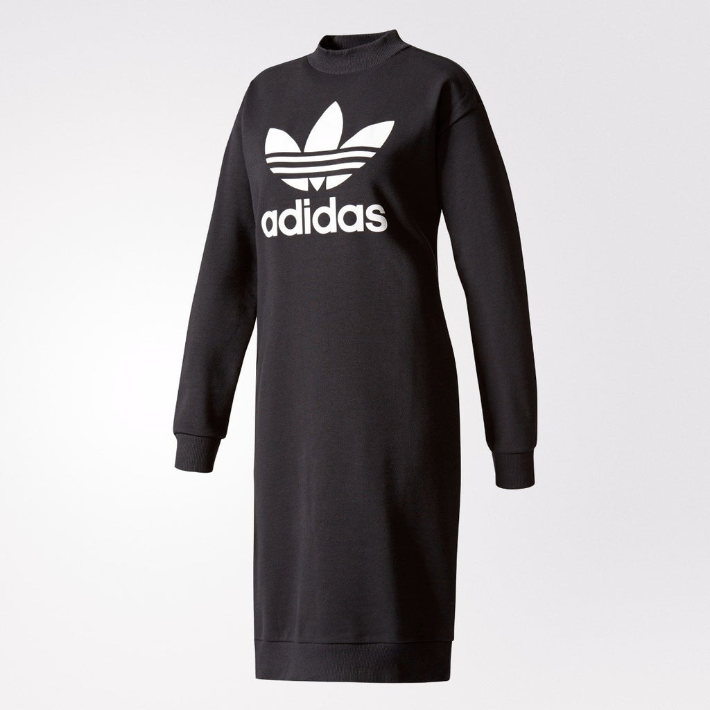 Women's adidas Originals Trefoil Crew Dress Black