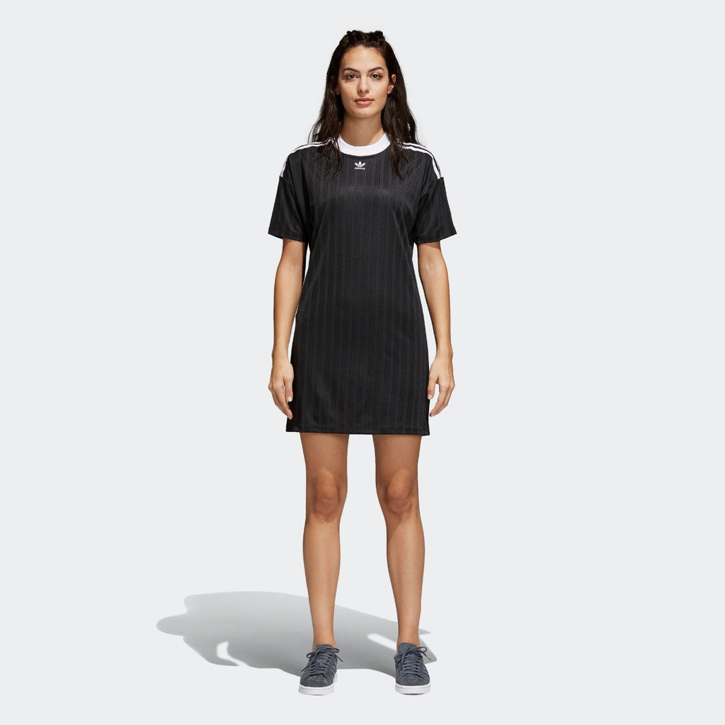 Women's adidas Originals Trefoil Dress Black with White